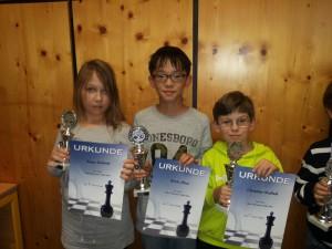 Erfolgreiche Vaterstettener: Xenia, Kevin und Christian