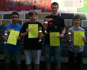 Die Sieger der Altersklasse U12, U14, U16 und U18! Foto: Tobias Stempfle